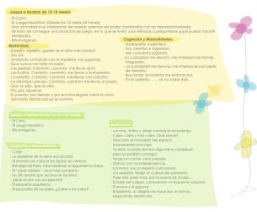 actividades de 12 a 24 meses guardería txanogorritxu