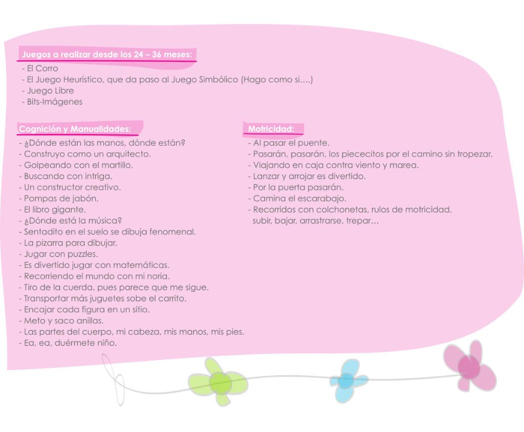 actividades de 24 a 36 meses guardería txanogorritxu