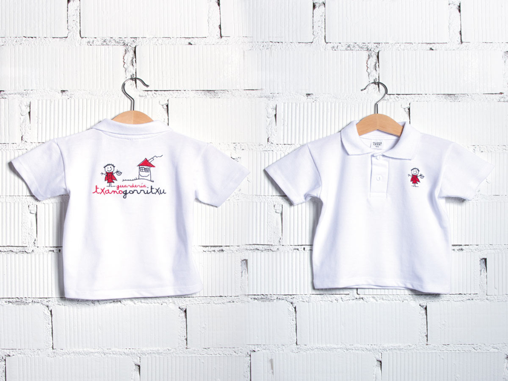 camiseta manga corta uniforme guardería Txanogorritxu