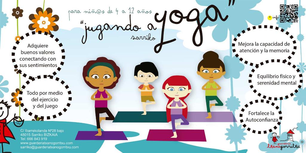 yoga para niños guardería txanogorritxu sarriko